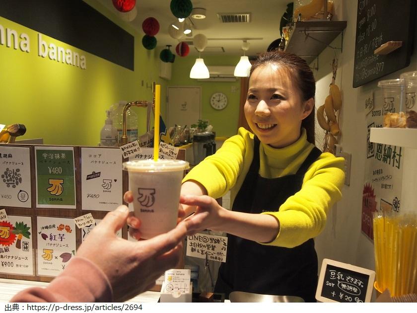 野田枝里さんのバナナジュース専門店[sonna banana」の場所や気になるメニューと値段は?【マツコの知らない世界】